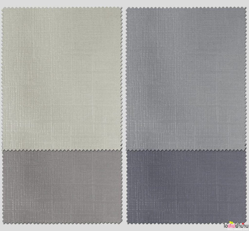 เนื้อผ้าม่าน Dimout กันรังสี UV แบบปั๊มลวดลายคล้ายผ้าฝ้าย