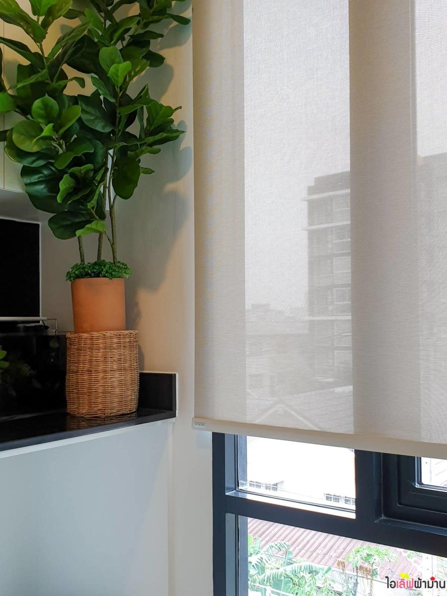 ม่านม้วน Sunscreen แสงผ่านได้ ทำให้ห้องครัวไม่อับชื้น