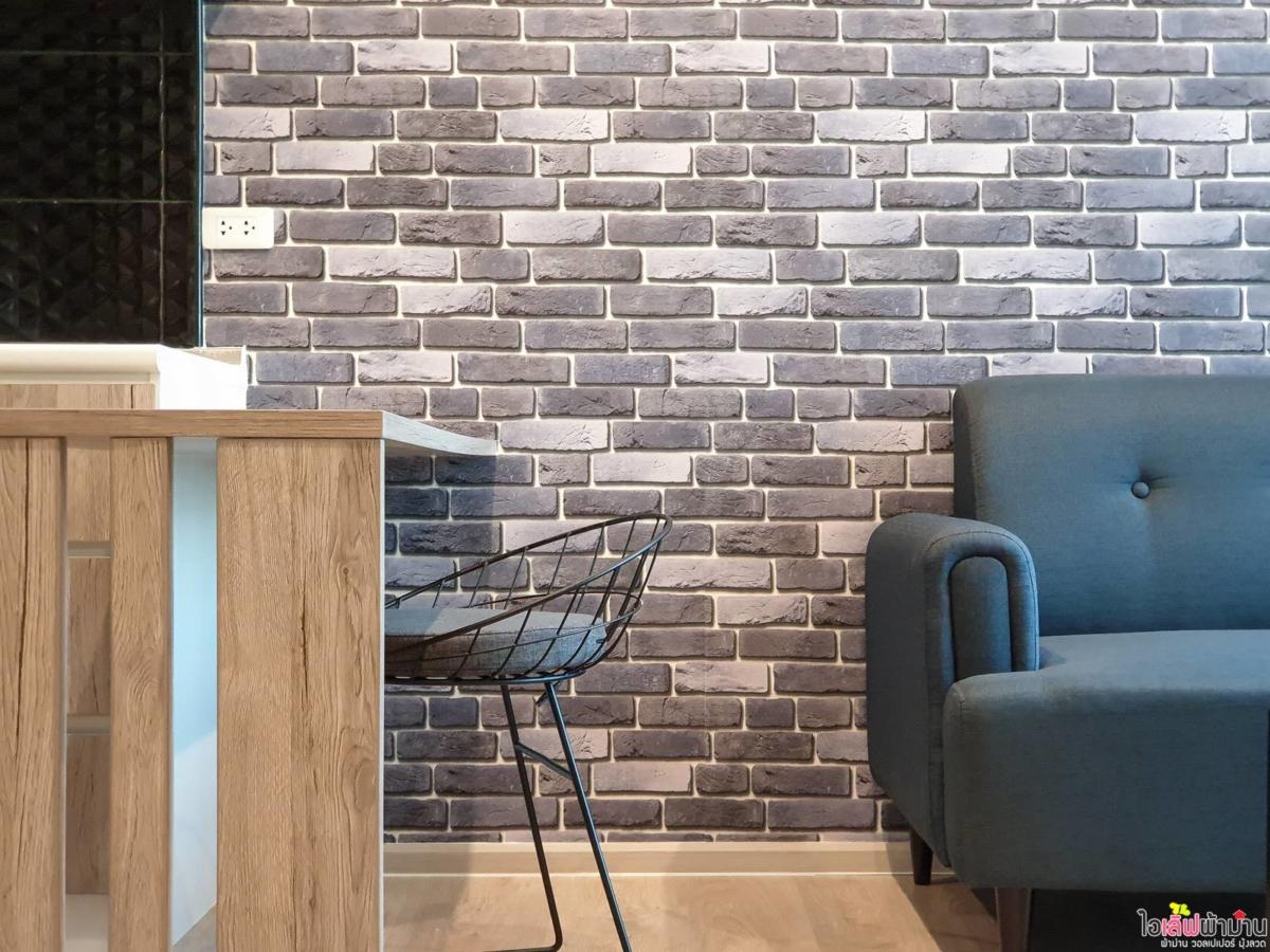 Wallpaper ลายอิฐ ช่วยสร้างบรรยากาศ Zelle รัตนาธิเบศร์